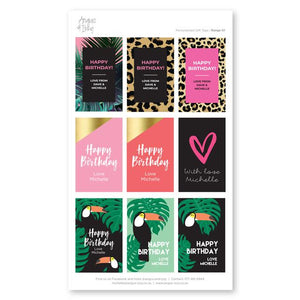 Pre-selected Gift Tag Stickers Bundle 01 Gift Tag Bundles Angus & Izzy