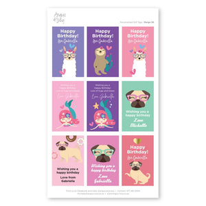 Pre-selected Gift Tag Stickers Bundle 06 Gift Tag Bundles Angus & Izzy