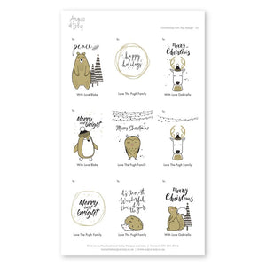 Pre-selected Gift Tag Stickers Bundle 15 Gift Tag Bundles Angus & Izzy