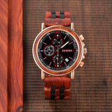 Commander Collection Handmade Rosewood Wooden Watches For Men