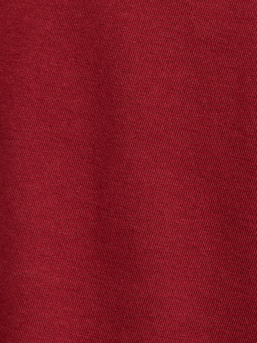 Boston Supima V Neck - Burgundy