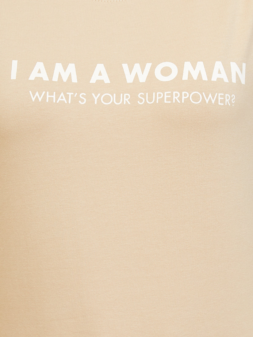 Women Super Power - Greige