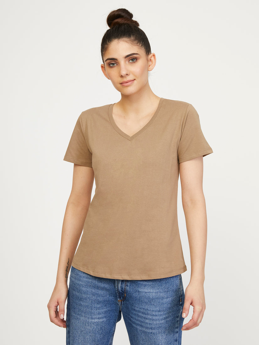 Boston Supima V Neck - Humus
