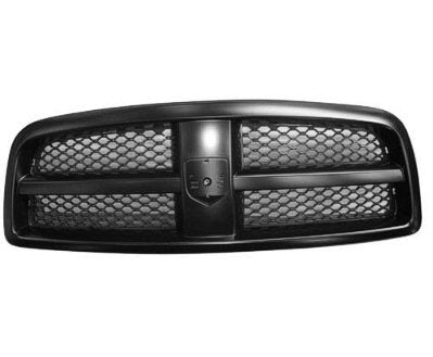 Grille Matt-Black With Painted-Black Frame 1500 Dodge Ram 2009-2012 | Hunt Auto Parts | Canadian Car Body Parts Store | Painted & Non-painted | CH1200327