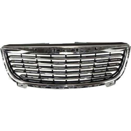 Grille Matt-Black With Chrome Frame Chrysler Town & Country 2011-2015 | Hunt Auto Parts | Canadian Car Body Parts Store | Painted & Non-painted | CH1200350