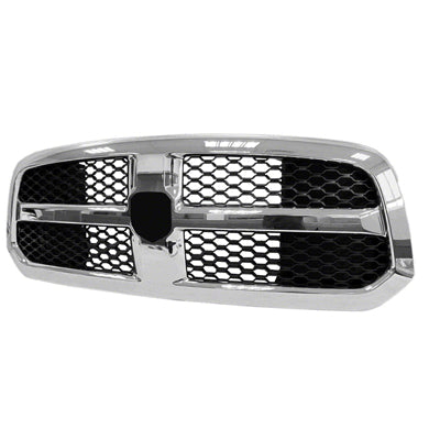 Grille Matt-Black With Chrome Frame 1500 Dodge Ram 2015 | Hunt Auto Parts | Canadian Car Body Parts Store | Painted & Non-painted | CH1200368