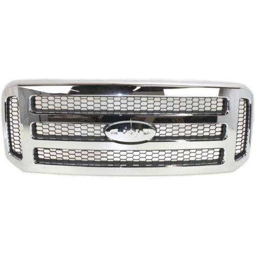 Grille All Chrome Super Duty  Ford F150 2005-2007 | Hunt Auto Parts | Canadian Car Body Parts Store | Painted & Non-painted | FO1200456