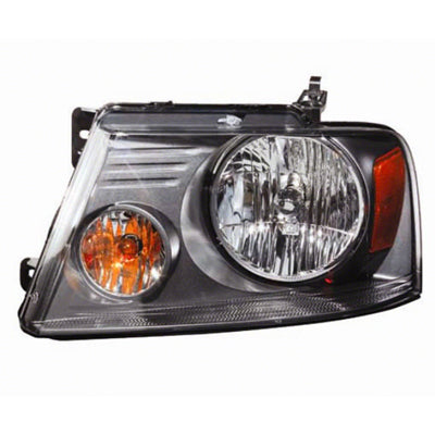 Head Lamp Driver Side With Medium Gray Background High Quality Ford F150 2007-2008 | Hunt Auto Parts | Canadian Car Body Parts Store | Painted & Non-painted | FO2502248