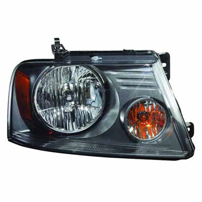 Head Lamp Passenger Side (With Medium Gray Background) High Quality Ford F150 2007-2008 | Hunt Auto Parts | Canadian Car Body Parts Store | Painted & Non-painted | FO2503248