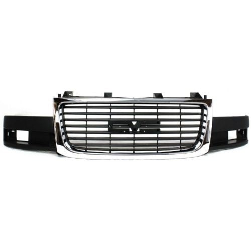 Grille Composite Chrome/Black  GMC Savana Van 2003-2016 | Hunt Auto Parts | Canadian Car Body Parts Store | Painted & Non-painted | GM1200532