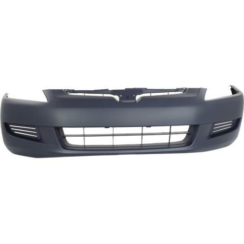 Bumper Front Primed Coupe 4-Cylinder All 6-Cylinder Automatic Transmission Without Fog Hole Honda Accord 2003-2005 | Hunt Auto Parts | Canadian Car Body Parts Store | Painted & Non-painted | HO1000211