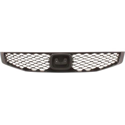 Grille Black Coupe Honda Civic 2009-2011 | Hunt Auto Parts | Canadian Car Body Parts Store | Painted & Non-painted | HO1200199