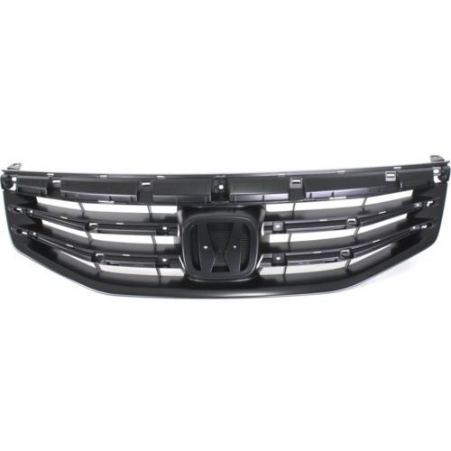 Grille Matt-Black Sedan Honda Accord 2011-2012 | Hunt Auto Parts | Canadian Car Body Parts Store | Painted & Non-painted | HO1200203