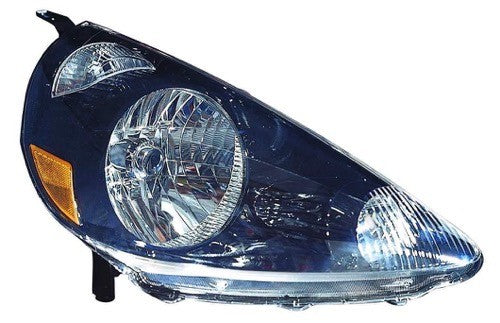 Head Lamp Passenger Side Black High Quality Honda Fit 2007-2008 | Hunt Auto Parts | Canadian Car Body Parts Store | Painted & Non-painted | HO2503131