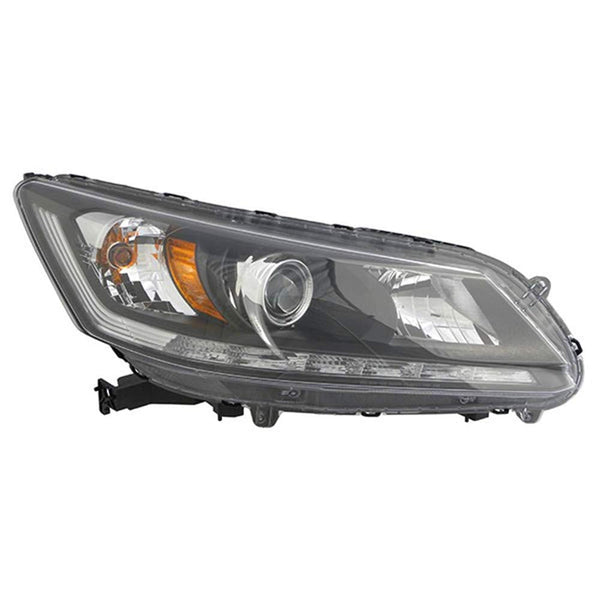 2013-2015 Honda Accord Headlight Passenger Side Sedan With Drl Halogen 3.5 Liter Sedan Ex-L Models High Quality