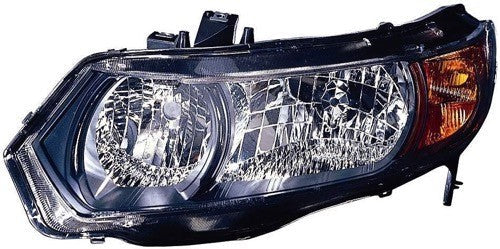 Head Lamp Driver Side Coupe Black Housing High Quality Honda Civic 2006-2008 | Hunt Auto Parts | Canadian Car Body Parts Store | Painted & Non-painted | HO2518111