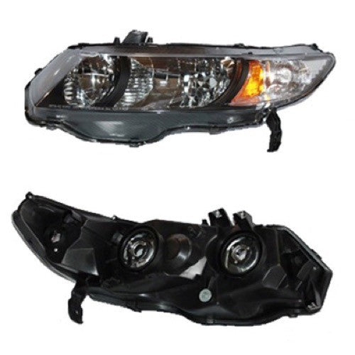 Head Lamp Driver Side Coupe High Quality Honda Civic 2009-2011 | Hunt Auto Parts | Canadian Car Body Parts Store | Painted & Non-painted | HO2518126