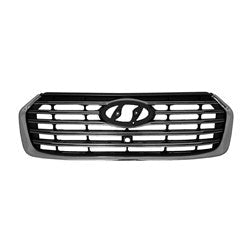 2017-2018 Hyundai Santa Fe (6-7 Seater) Grille Front Black With Silver Surround With 5Chrome Bars With Camera Exclude Sport Model