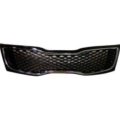 Grille Painted Black With Chrome Moulding Lx/Ex  KIA Optima 2014-2015 | Hunt Auto Parts | Canadian Car Body Parts Store | Painted & Non-painted | KI1200163