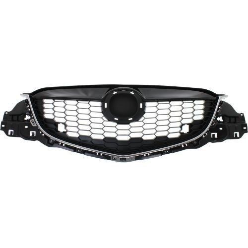 Grille Partial Painted-Bk With Chrome Moulding Mazda CX-5 2013-2015 | Hunt Auto Parts | Canadian Car Body Parts Store | Painted & Non-painted | MA1200187