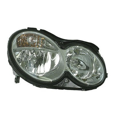 Head Lamp Passenger Side Halogen Clk Models High Quality Mercedes C-Class 2008-2009 | Hunt Auto Parts | Canadian Car Body Parts Store | Painted & Non-painted | MB2503173