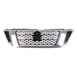 2017-2019 Nissan Armada (2017-) Grille Ptd Black With Chrome/Camera Sl/Platinum Model