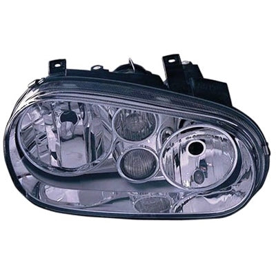 1999-2002 Volkswagen Golf Headlight Passenger Side With Fog (Chrome Bezel) High Quality