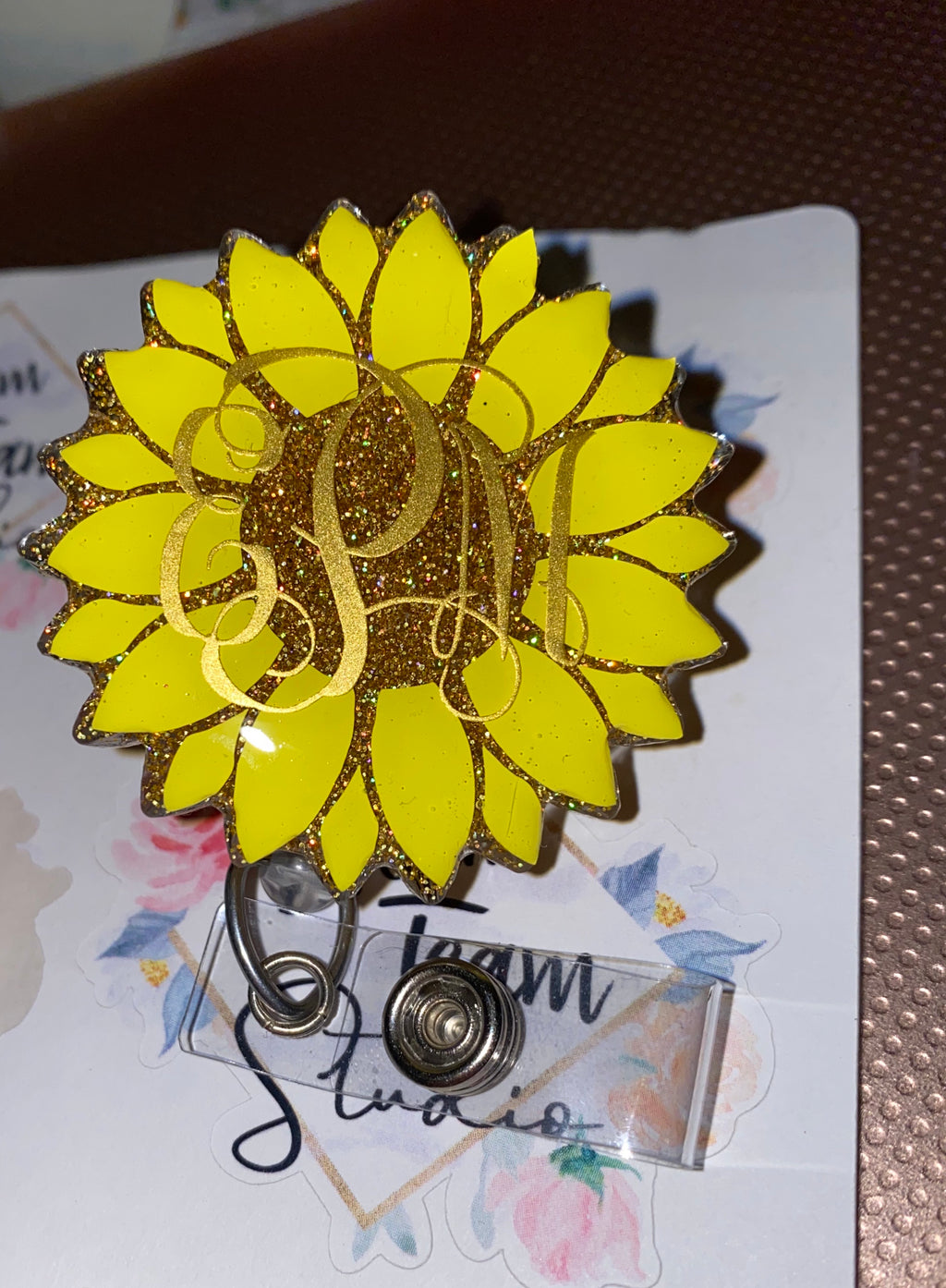 Sunflower Badge Reel