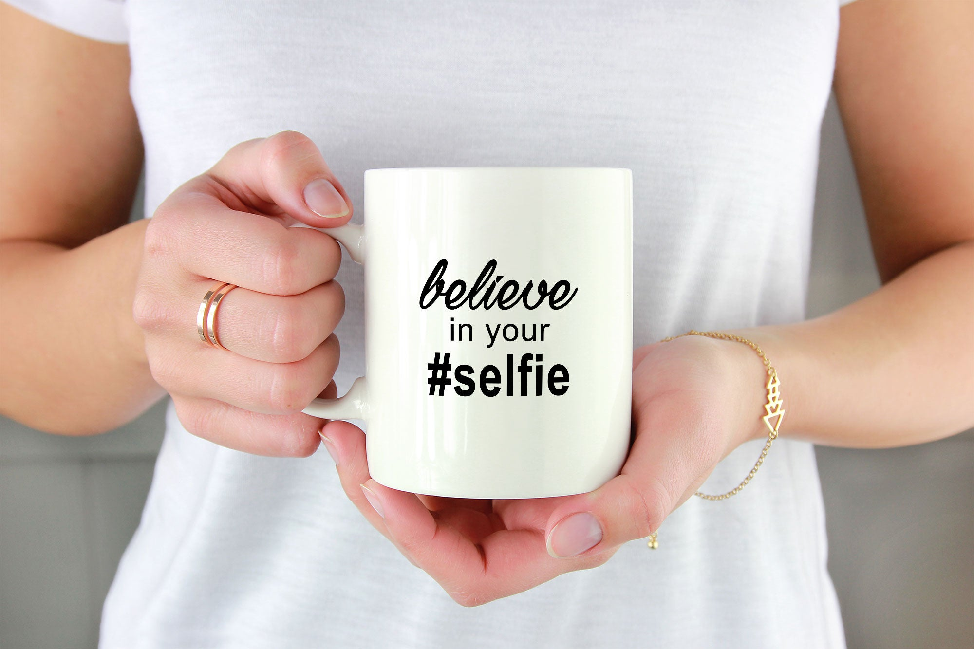 Tasse Believe In Your Selfie Kaffeetasse Kaffeebecher Das
