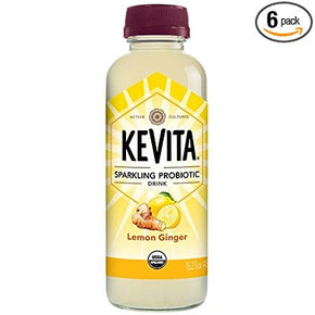 Kevita Original Sparkling Probiotic Lemon Ginger GF Drink (6 x 450ml)