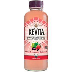 Kevita Original Sparkling Probiotic Strawberry Acai Coconut GF Drink (6 x 450ml)