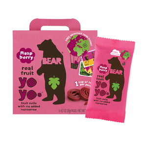 Bear Yo Yo Fruit Roll Raspberry (Pack of 15)
