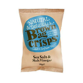 Brown Bag Crisps Sea Salt & Malt Vinegar (20 x 40g)