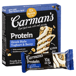 Carman's Nut Bars - Greek Style Yogurt & Blueberry (5 x 32g)