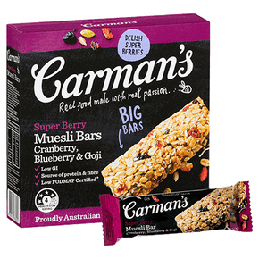 Carman's Muesli Bars - Super Berry (6 x 45g)