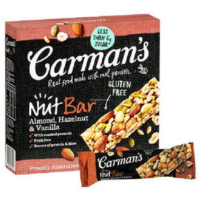 Carman's Nut Bars - Almond With Hazelnut & Vanilla (5 x 35g)