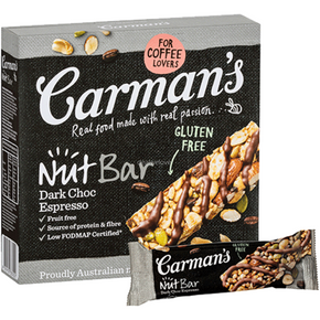 Carman's Nut Bars - Dark Chocolate Espresso (5 x 32g)