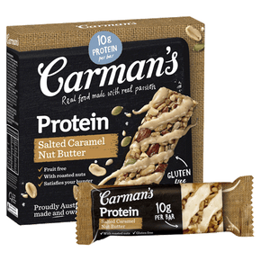 Carman's Gourmet Protein bars - Salted Caramel Nut Butter (5 x 40g)