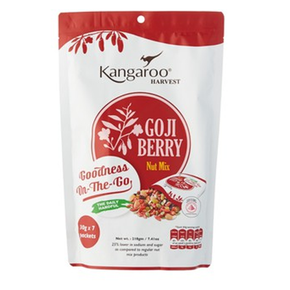 Kangaroo Harvest Nut Mix - Goji Berry (7 x 30g)