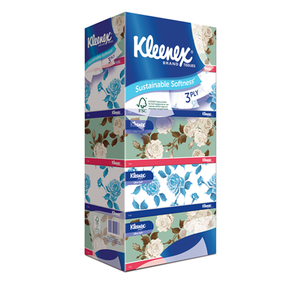 Kleenex Facial Tissue Box 3ply (5 x 100 sheets)