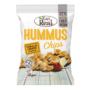 Eat Real Hummus Chips - Chilli and Lemon (12 x 45g)