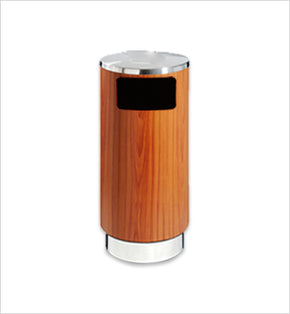 Wood-Finished Centralised Bin - 68L (Wood Brown)
