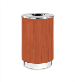 Wood-Finished Centralised Bin - 220L (Wood Brown)