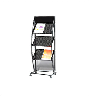 Magazine Stand - 3 racks (Black)