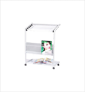 Newspaper & Magazine Stand - 6 Newspapers (Silver)