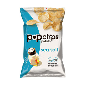 Popchips Potato Chips Sea Salt Original (24 packets/box)