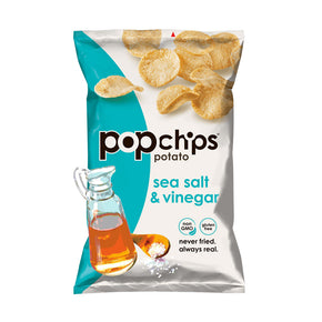 Popchips Potato Chips Sea Salt & Vinegar (24 packets/box)