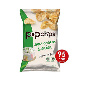 Popchips Potato Chips Sour Cream & Onion (24 packets/box)