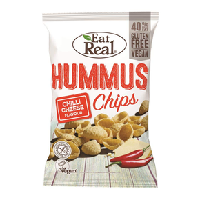 Eat Real Hummus Chips - Chilli Cheese (12 x 45g)