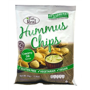 Eat Real Hummus Chips - Creamy Dill (12 x 45g)